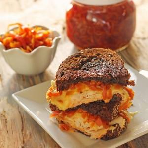 Smoked Turkey Reuben Sandwiches with Golden Sauerkraut