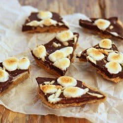 Dark Chocolate S'mores Toffee Bark|Craving Something Healthy