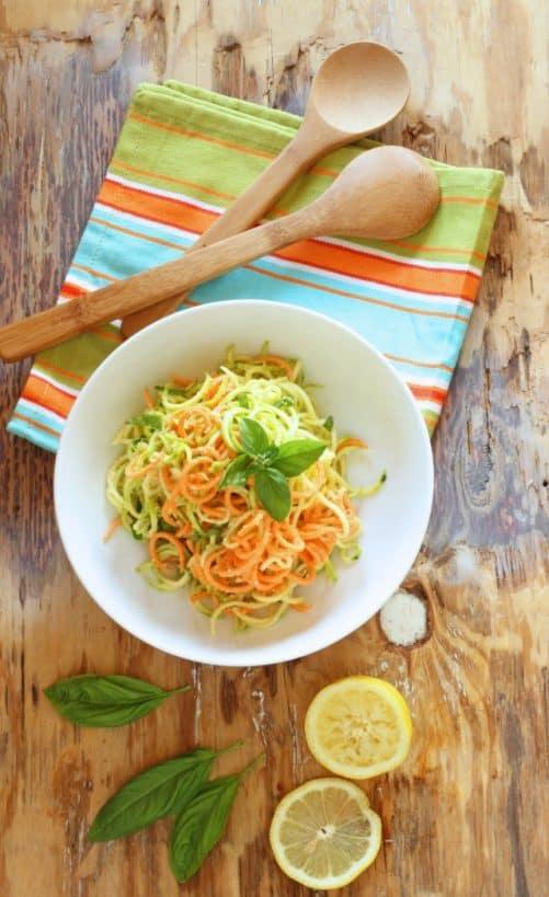 Lemon Parmesan Zucchini Noodles|Craving Something Healthy