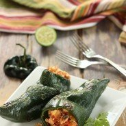 Sofritas Stuffed Poblano Peppers|Craving Something Healthy