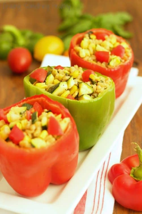 Garden Stuffed Sweet Peppers {Recipe ReDux}|Craving Something Healthy