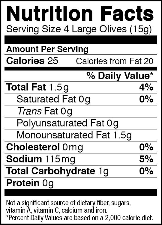 Olives Food Label Craving Something Healthy