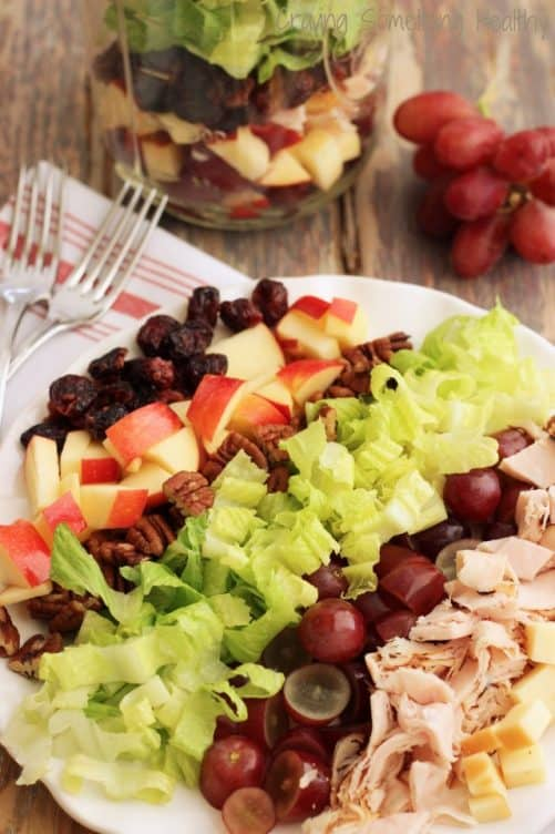 Smoked Turkey Harvest Salad with Maple Vinaigrette|Craving Something Healthy