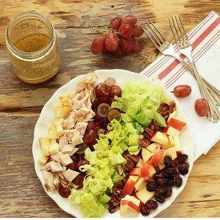 Smoked Turkey Harvest Salad with Maple Vinaigrette