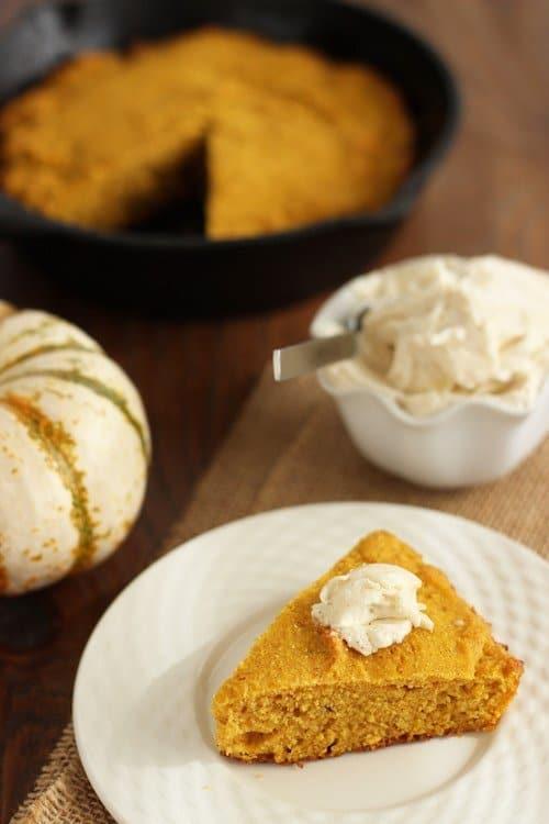 Buttermilk Pumpkin Cornbread with Maple Butter