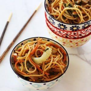 Bok Choy Chinese Noodle Bowls {Recipe ReDux}