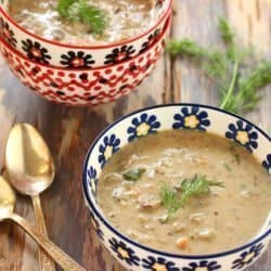 Polish Mushroom Soup with Barley|Craving Something Healthy