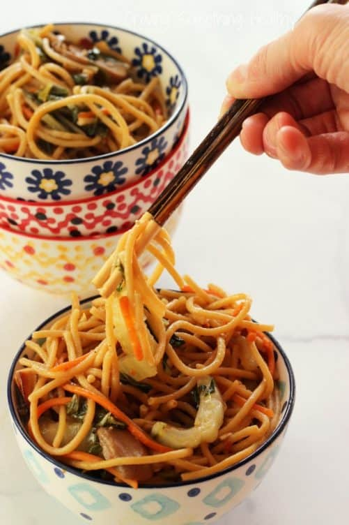 Chinese Bok Choy Noodle Bowls {Recipe ReDux}