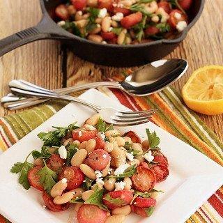 Roasted Radish and White Bean Salad