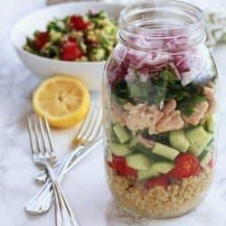 Tuna & Freekeh Tabouli Salad
