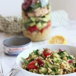 Tuna & Freekeh Tabouli Salad|Craving Something Healthy