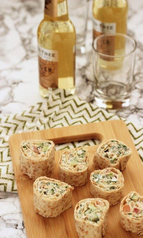 Tabouli Cucumber Pinwheel Bites|Craving Something Healthy