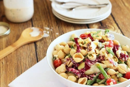 Farmers Market Pasta Salad with Lemon Buttermilk Dressing|Craving Something Healthy