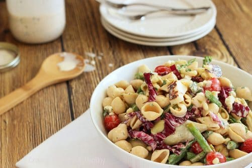 Farmer's Market Pasta Salad with Lemon-Herb Buttermilk Dressing