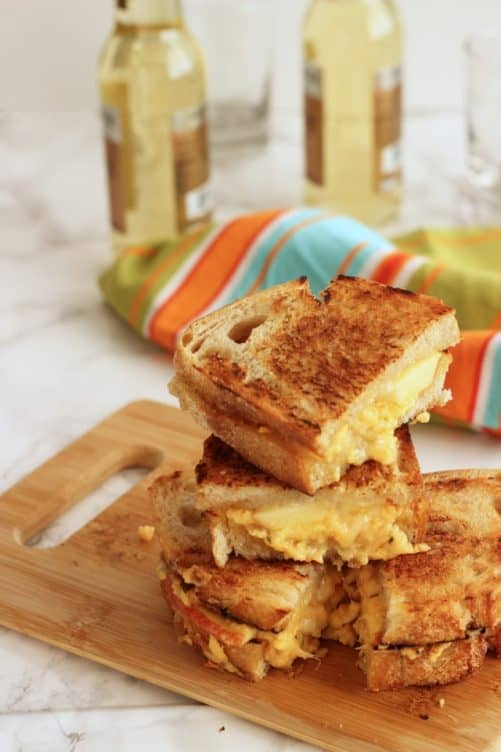 Grilled Cheese with Sharp Cheddar, Brie and Apple|Craving Something Healthy