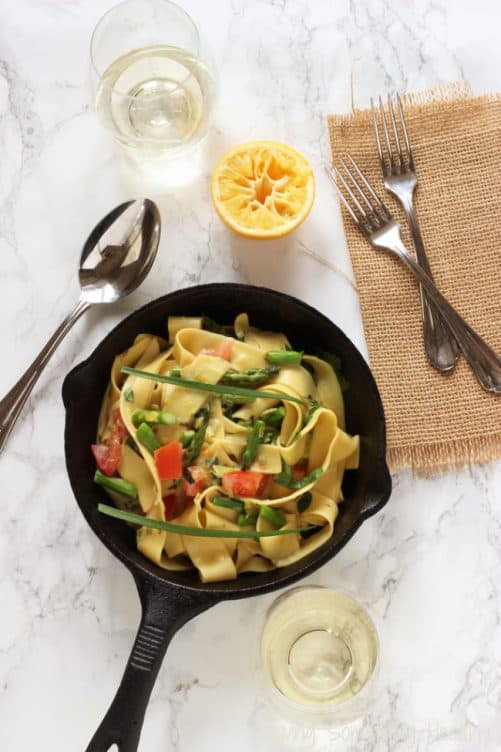 One Skillet Pappardelle Primavera|Craving Something Healthy