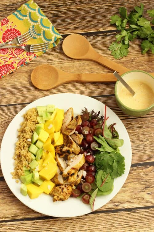 It's not just for the holidays! Try grilling some turkey this summer, and turn a cool salad into a quick meal. Grilled Tandoori Turkey Salad with Creamy Curry Dressing Craving Something Healthy