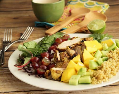 Grilled Turkey Tandoori Salad with Creamy Curry Dressing Craving Something Healthy
