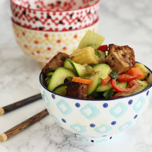Easy Thai Coconut Curry Vegetables {Meatless Monday}