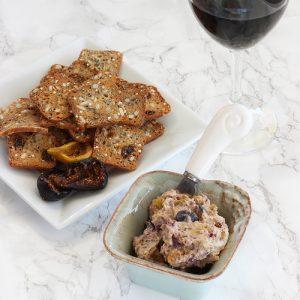 Roasted Figs Blue Cheese & Walnut Spread