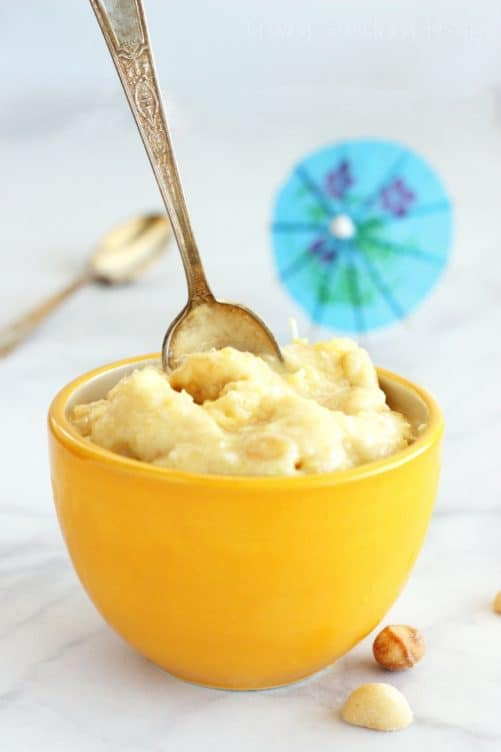Pina Colada (Vegan) Ice Cream with Salted Macadamias Craving Something Healthy