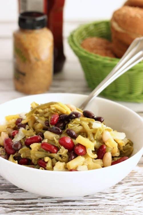 5 Bean Salad with Sweet Vinaigrette Craving Something Healthy