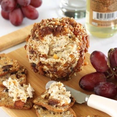 Apricot Pecan and Honey Goat Cheese Ball