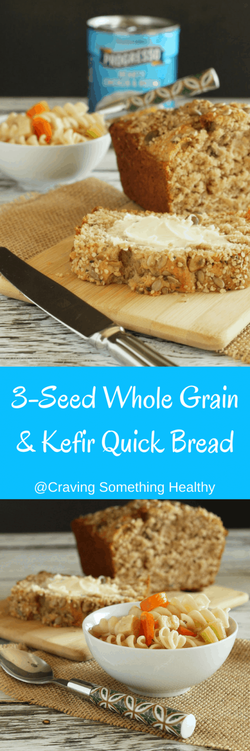 3 Seed Whole Grain & Kefir Quick Bread |Craving Something Healthy