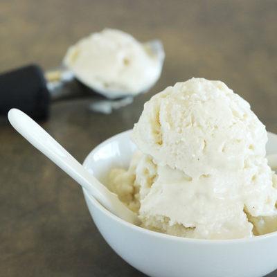 Pear and Chai Spiced Coconut Ice Cream