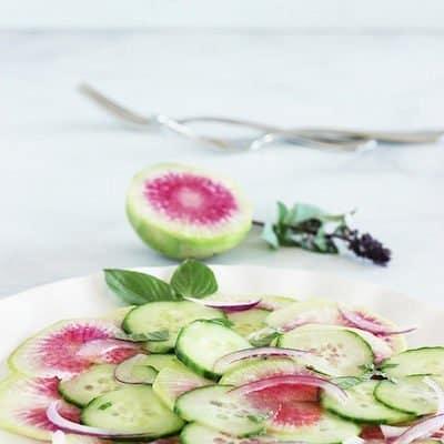Asian Watermelon Radish Salad