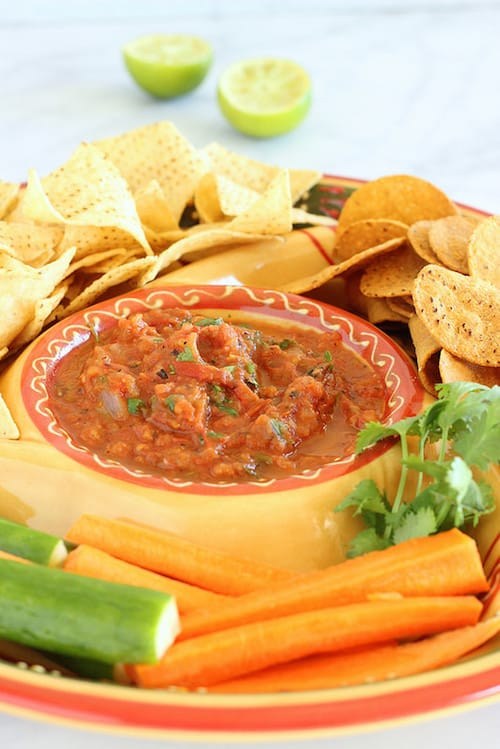 Sheet Pan Restaurant-Style Salsa|Craving Something Healthy