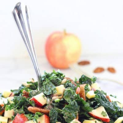 Kale Apple Salad with Cranberry Vinaigrette