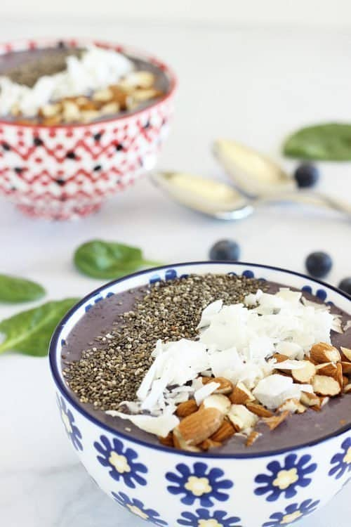 Wild Blueberry Kefir Smoothie Bowl Craving Something Healthy