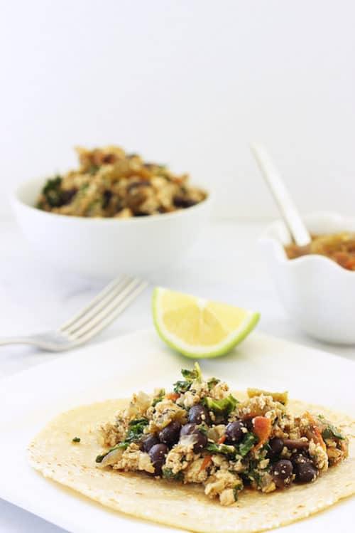 Mexican Tofu and Black Bean Scramble|Craving Something Healthy