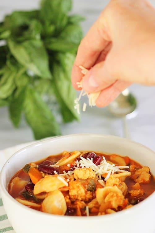 Chunky Italian Turkey Fennel Soup|Craving Something Healthy
