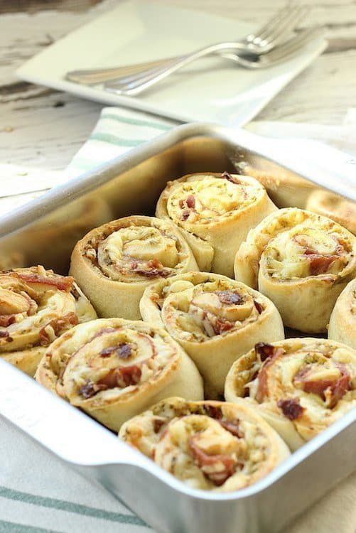 Prosciutto and Cheese Pinwheel Breakfast Rolls|Craving Something Healthy