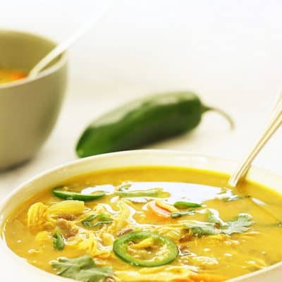 Coconut Curry Chicken and Lentil Soup Craving Something Healthy