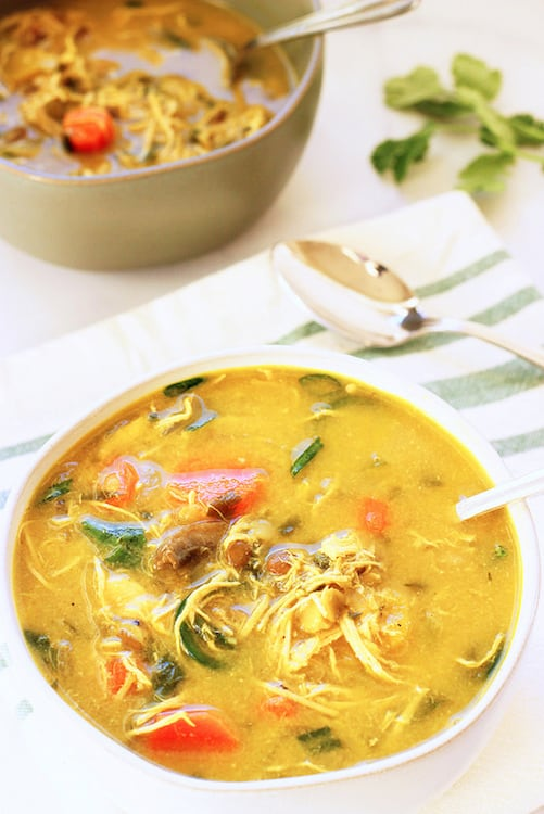 Coconut Curry Chicken and Lentil Soup|Craving Something Healthy