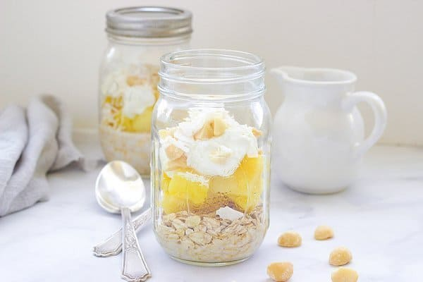 Pina Colada Overnight Oats | Craving Something Healthy