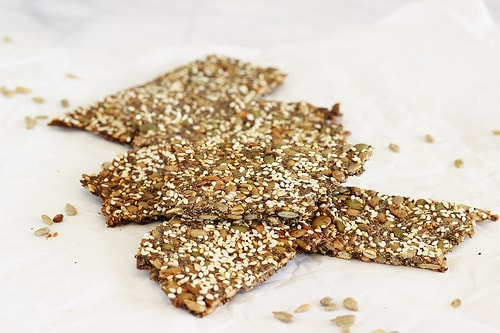 Homemade Grain Free Six Seed Flatbread Crackers|Craving Something Healthy