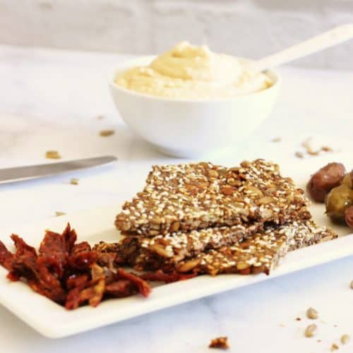Homemade Grain-Free Six Seed Flatbread Crackers