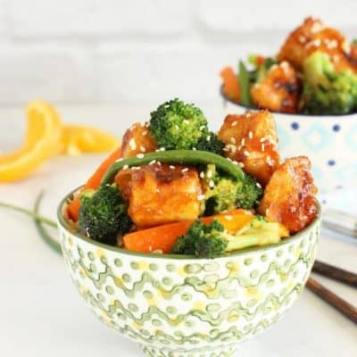 General Tso's Tofu with Vegetables Craving Something Healthy