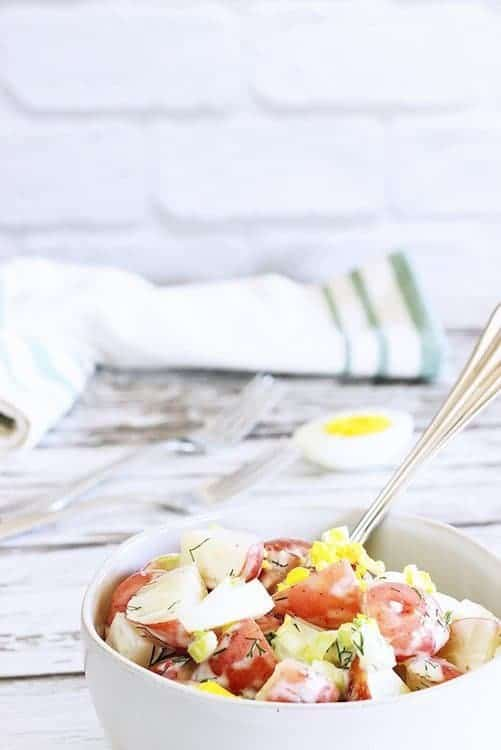 Light Tangy Old Fashioned Potato Salad – and why potato salad is a healthy choice!