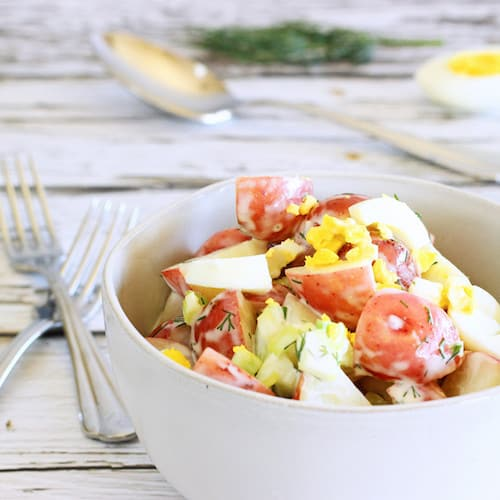 Light and Tangy Old Fashioned Potato Salad|Craving Something Healthy