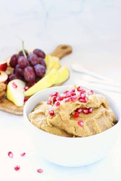 Pumpkin Pie Dessert Hummus | Craving Something Healthy