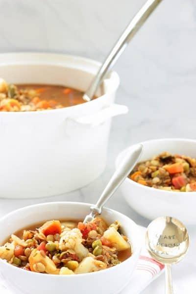Heart Healthy Mediterranean Vegetable Lentil Soup  Craving Something Healthy