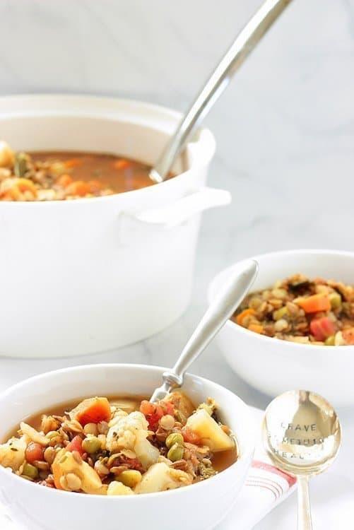 Heart Healthy Mediterranean Vegetable Lentil Soup