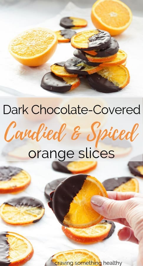 Dark Chocolate Covered Candied Orange Slices | Craving Something Healthy