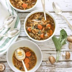 Wild Mushroom and Barley Soup |Craving Something Healthy