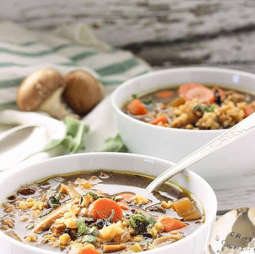 Wild Mushroom and Barley Soup | Craving Something Healthy
